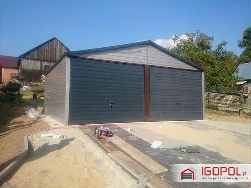 Garaż Blaszany 6x55m Akrylowy Dwuspadowy Blaszaki Premium