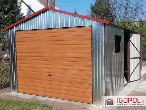 Garaż blaszany 3,5x7m – dwuspadowy