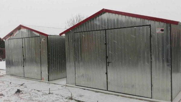 garaż blaszany 4x5m ocynkowany