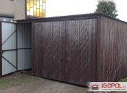 Garaz-blaszany-4x5m-spad-do-tylu-brama-uchylna+drzwi-2