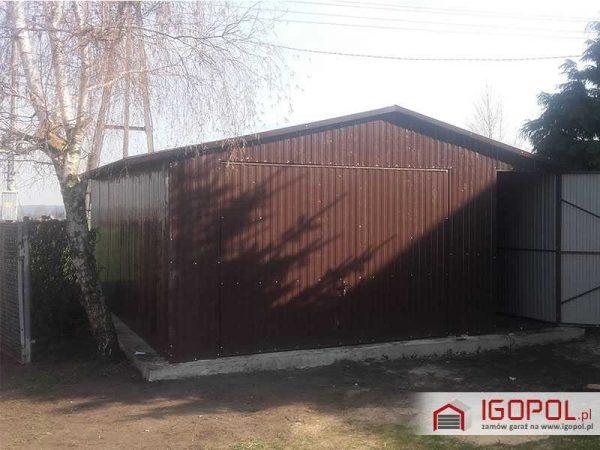 Garaz-blaszany-5x7m-dwuspadowy-1