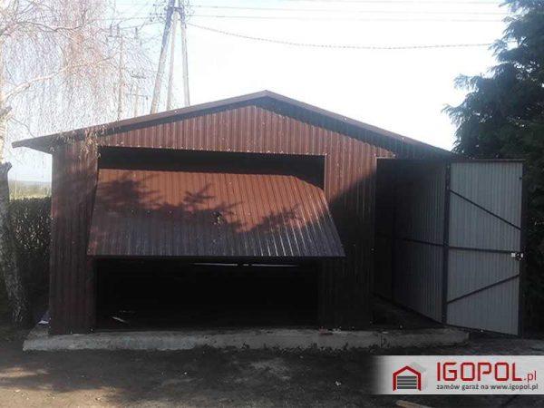 Garaz-blaszany-5x7m-dwuspadowy-3