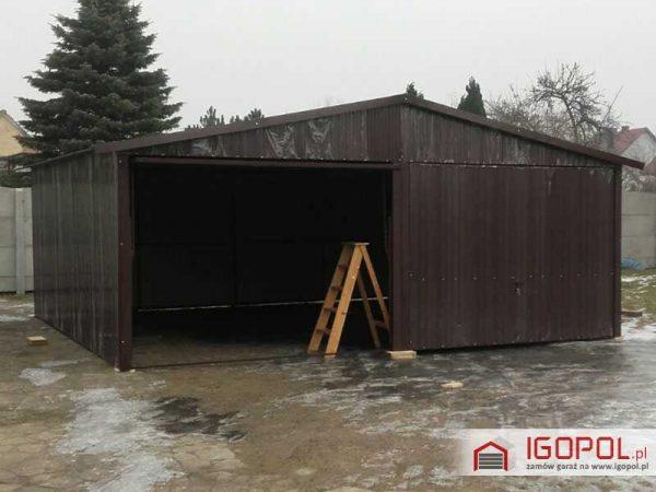 Garaz-blaszany-6x5,5m-dwuspadowy-1