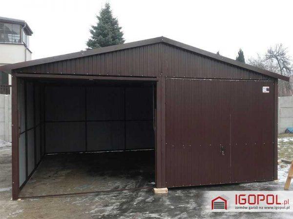 Garaz-blaszany-6x5,5m-dwuspadowy-2