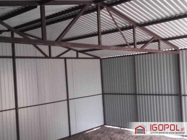 Garaz-blaszany-6x5,5m-dwuspadowy-kolor-ciemny-braz-ral-8017-3