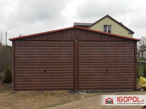 Garaz-blaszany-6x5,5m-orzech1