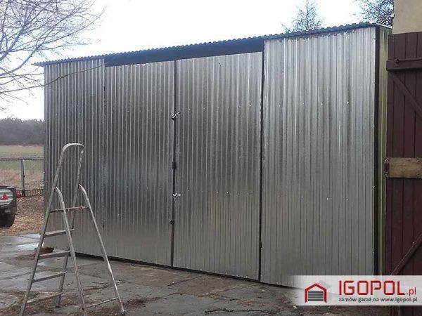 Garaz-blaszany-6x7m-ocynk-spad-w-tyl